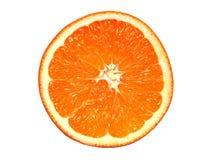 Orange Portion Isolated On White Stock Image