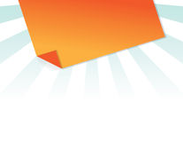 Orange post it Royalty Free Stock Photos