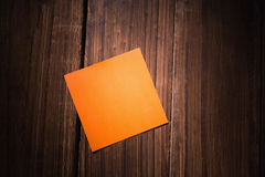 A Orange post it note Royalty Free Stock Photo