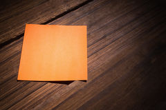 A Orange post it note Stock Images