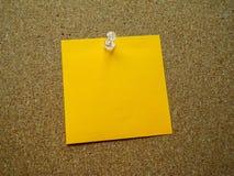 Orange post it note Stock Photos