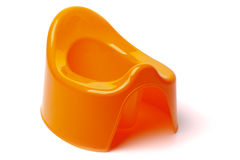 Orange potty Stockfotografie