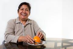 Orange pour le déjeuner Photo libre de droits