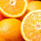 Orange pour le jus d'orange Images libres de droits