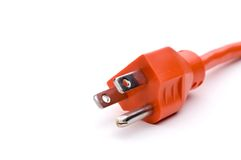 Orange power cord Stock Photography