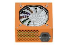 Orange Power Supply Unit Stock Image