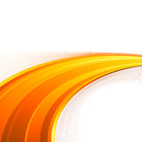 Orange power swoosh wave folder template Stock Photography