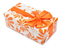 Orange present box Stock Photo