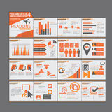 Orange presentation Infographic elements template flat design  Stock Image
