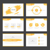 Orange presentation templates Infographic elements flat design set for brochure flyer leaflet marketing Stock Photography