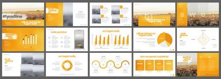 Orange presentationsmallar Arkivfoton