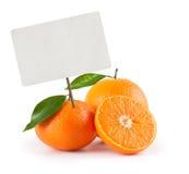 Orange with price tag Royalty Free Stock Image