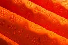 Orange print fabric Stock Photos