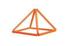 Orange prism Royalty Free Stock Images