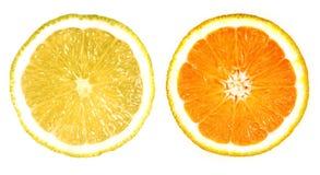 orange proche de citron vers le haut Photos libres de droits