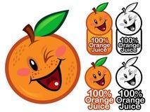 Orange products seal Stock Image