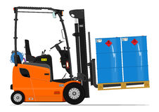 Orange propane forklift Stock Photography