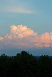 Orange Puffy Clouds Royalty Free Stock Images