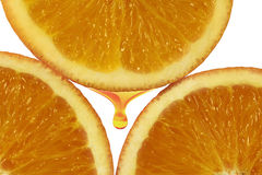 Orange pulp Stock Photo