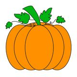 orange pumpa stock illustrationer