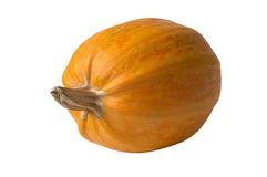 Orange pumpkin. Isolated over white Royalty Free Stock Photo