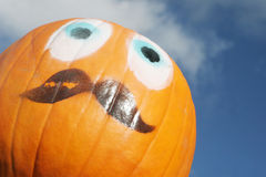 Orange pumpkin face. Royalty Free Stock Photos