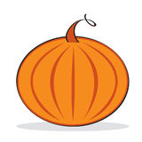 Orange pumpkin with grey shadow Royalty Free Stock Photography