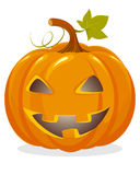 Orange pumpkin head Stock Photo