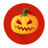 Orange Pumpkin Jack Face Halloween Holiday Icon Stock Photography