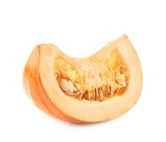 Orange pumpkin slice piece isolated Stock Photography