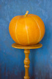 Orange pumpkin on the table Royalty Free Stock Photo