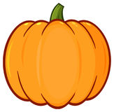 Orange Pumpkin Vegetables Cartoon Drawing Simple Design Royalty Free Stock Photography