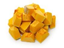 Orange pumpkin. On white background stock image
