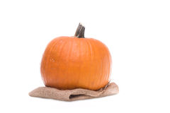 Orange pumpkin on white background. Orange halloween pumpkin on isolated white background Royalty Free Stock Images