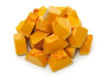 Orange pumpkin. On white background royalty free stock photo