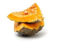 Orange pumpkin. On white background royalty free stock photography