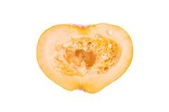 Orange pumpkin on white Stock Photo