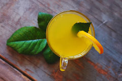 Orange punch with fruit sweet alcohol summer drink Stock Images