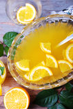 Orange punch with fruit sweet alcohol summer drink Stock Photo