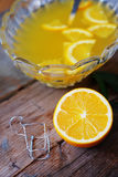Orange punch with fruit sweet alcohol summer drink Royalty Free Stock Images