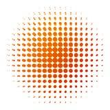 Orange punktierter Hintergrund Stock Abbildung