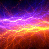 Orange and purple abstract lightning. Background, clash of the elements Royalty Free Stock Images