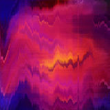 Orange purple blurred abstract background texture with horizontal stripes. glitches, distortion on the screen broadcast digital TV Stock Images