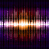 Orange and purple digital equalizer background Royalty Free Stock Photo