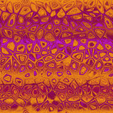 Orange - purple etno design Stock Image