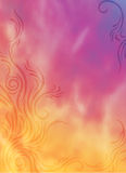 Orange purple flames Stock Image