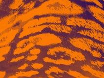 Orange-purple gradiented leopard textile background Stock Photo