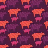 Orange Purple and Pink Colorful Baby Sheep royalty free illustration