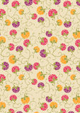 Orange purple and Red flower print / pattern Stock Images