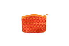 Orange purse Royalty Free Stock Photos